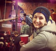Anna drinking at smuggs